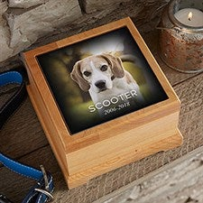 Photo Memorial Personalized Pet Urn - 21073