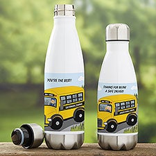 School Bus Driver Gift - Personalized Insulated Water Bottle - 21077