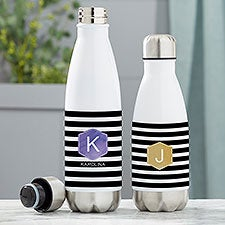 Modern Stripe Personalized Insulated Water Bottles - 21088