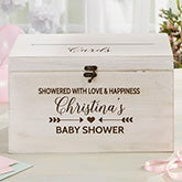 Personalized Wood Baby Shower Card Box - 21124