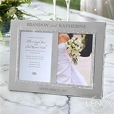 Custom Engraved Lenox Devotion Double Invitation Frame - 21130