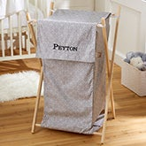 Personalized Collapsible Baby Laundry Hamper - Grey - 21136