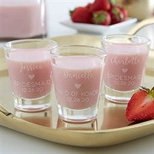 Personalized Bridesmaid Shot Glasses - 21144