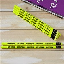 Personalized Pencils - Neon Yellow - Set of 12 - 21148