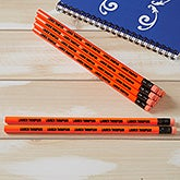 Personalized Pencils - Neon Orange - Set of 12 - 21149
