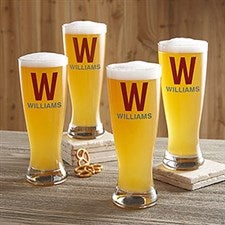 Initial & Name Personalized Beer Pilsner Glass - 21153