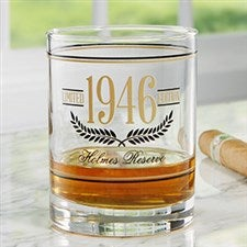 Aged To Perfection Personalized Birthday Whiskey Glass - 21155