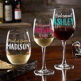 Personalized Wedding Wine Glasses - My Bridal Party - 21158