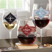 Family Winery Personalized Wine Glasses - 21159