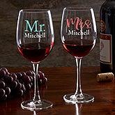 Personalized Wine Glasses - Wedding & Engagement - 21160