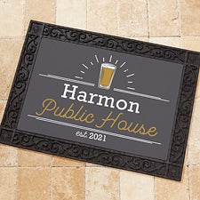 Personalized Home Bar Doormats - Public House - 21169