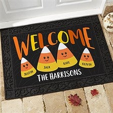 Personalized Halloween Doormats - Candy Corn Family - 21172