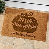 Hello Pumpkin Personalized Coir Doormat - 21179