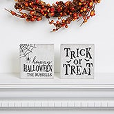 Happy Halloween Personalized Shelf Blocks - 21185