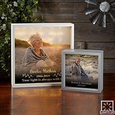 Photo Memorial Personalized LED Light Shadow Box - 21191