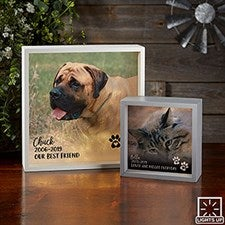 Pet Photo Memorial Personalized LED Shadow Box - 21192