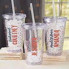 Personalized Acrylic Insulated Tumblers for Bridesmaids - 21203