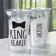 Ring Bearer Personalized Acrylic Insulated Tumbler - 21208