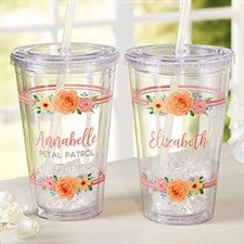 Flower Girl Personalized Acrylic Insulated Tumbler - 21210