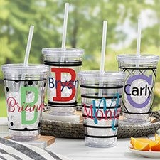 Name & Initial Personalized Insulated Tumblers - 21212