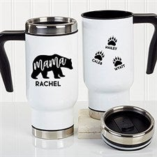 Personalized Mama Bear Travel Mugs - 21250