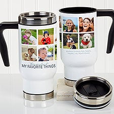 My Favorite Things Personalized Photo Collage Travel Mug - 21258