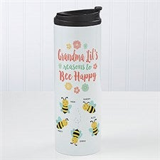 Bee Happy Personalized Travel Tumbler - 21286