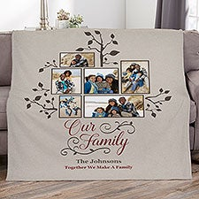 Photo Family Tree Personalized Blankets - 21288