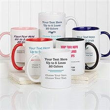 Custom Text Mugs - Your Text Here Coffee Mugs - 21295