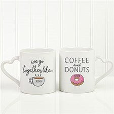 We Go Together Like Coffee & Donuts Personalized Mug Set - 21298
