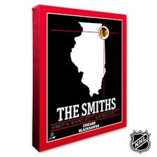 Chicago Blackhawks Personalized NHL Wall Art - 21310
