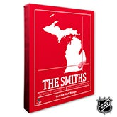 Detroit Red Wings Personalized NHL Wall Art - 21314