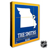 St Louis Blues Personalized NHL Wall Art - 21329