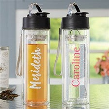 Personalized Glass Water Bottle Infuser - 21345