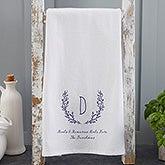 Personalized Tea Towel - Farmhouse Floral - 21362