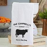 Farmhouse Kitchen Personalized Flour Sack Towel - 21363