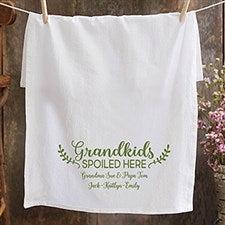 Personalized Tea Towel - Grandkids Spoiled Here - 21369