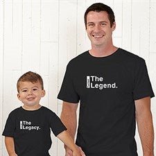 deaa6933 Personalized Father & Son Matching Shirts - The Legend Continues - 21381