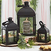 Personalized Wedding Decor - Engraved 3 Piece Lantern Set - 21395