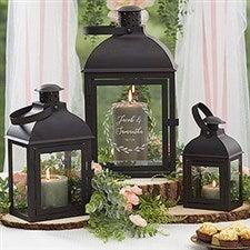 Personalized Wedding Decor - Engraved 3 Piece Lantern Set - 21395