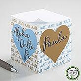 Alpha Delta Pi Personalized Note Cube - 21400