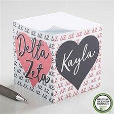 Delta Zeta Personalized Note Cube - 21404