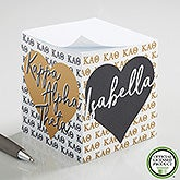 Kappa Alpha Theta Personalized Note Cube - 21408