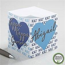 Kappa Kappa Gamma Personalized Note Cube - 21410