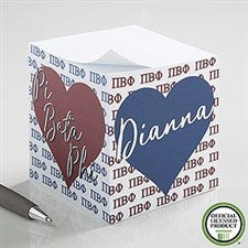 Pi Beta Phi Personalized Note Cube - 21411