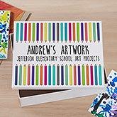 Personalized Kids' Art Box - Vibrant Hues - 21417