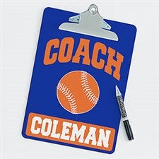 Personalized Clipboards For Baseball Coaches - 21419