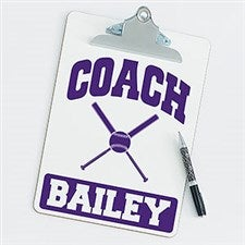 Personalized Clipboards For Softball Coaches - 21428
