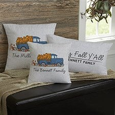 Personalized Fall Throw Pillows - Classic Fall Vintage Truck - 21438