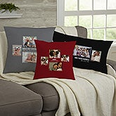 Personalized 4 Photo Collage Throw Pillows For Her - 21455
